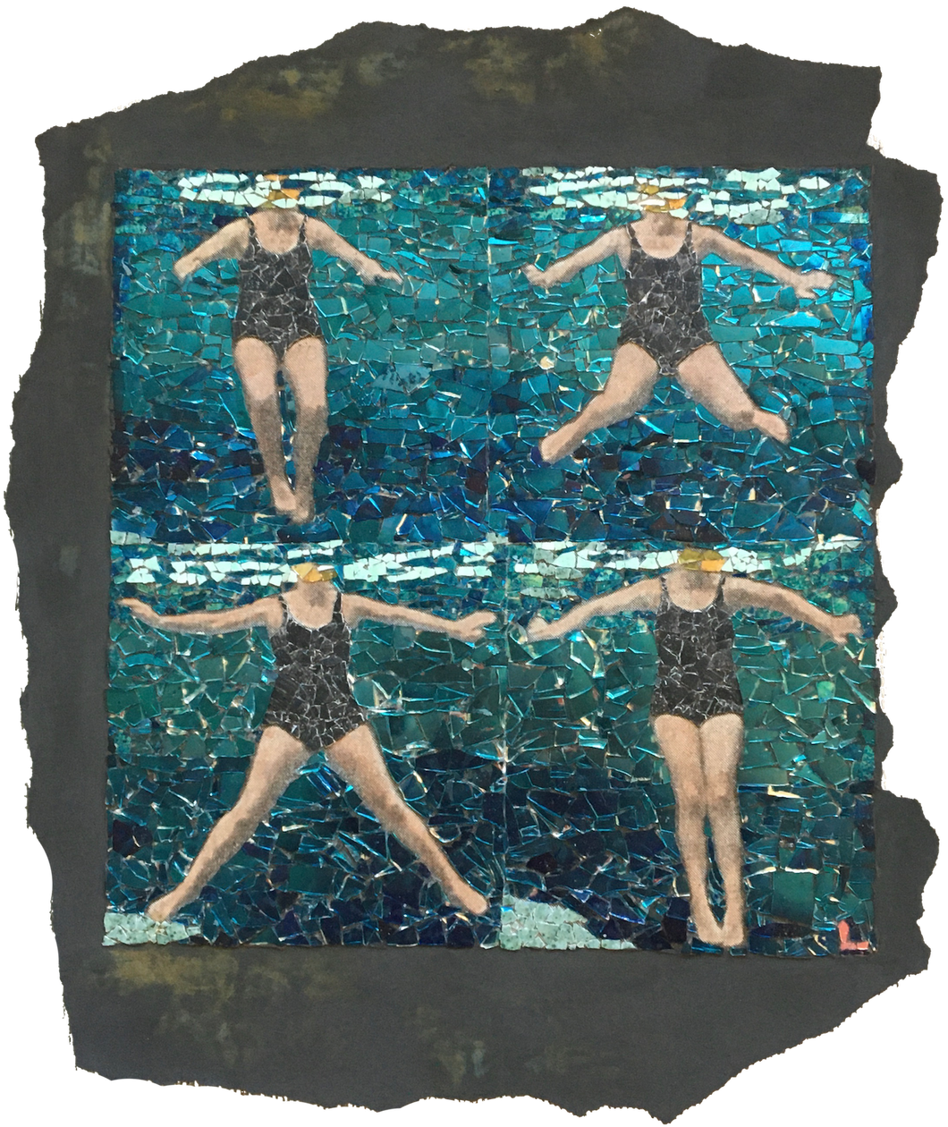 Fig.40. Treading water using breast stroke kick.