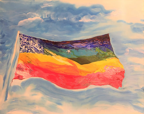The Other Rainbow Flag (watercolor)