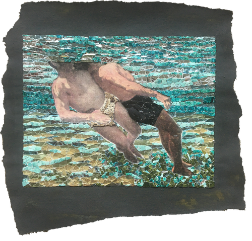 Fig. 88. Cross chest carry. Underwater view.
