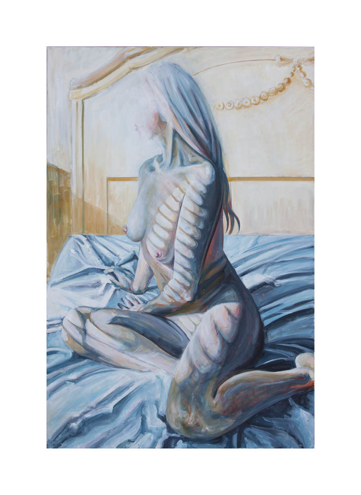 Limited edition Giclée print signed and numbered 2/20- Paula Craioveanu - Nude in Winter Light