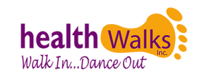 HealthWalks podiatry clinic and shoe store logo