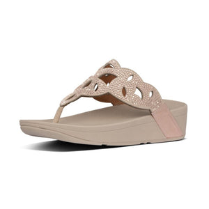 Fitflop Elora Crystal Toe-Thongs Rose Gold