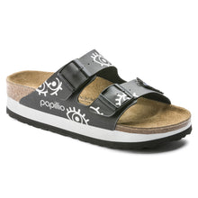 Load image into Gallery viewer, Birkenstock Papillio Platform Arizona Eyes Black Birko-Flor (R)(N)