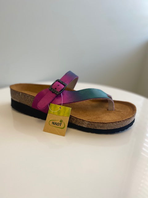 NAOT Tahoe Purple Teal Sandal