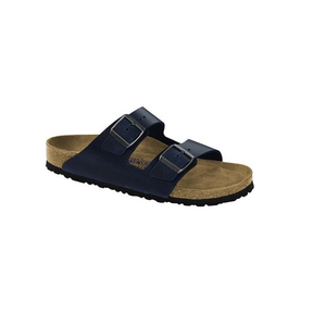 Birkenstock Arizona Soft Footbed Blue Leather (W)(S)