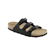 Load image into Gallery viewer, Birkenstock Florida Soft Footbed Black Birko-Flor (W)(S)