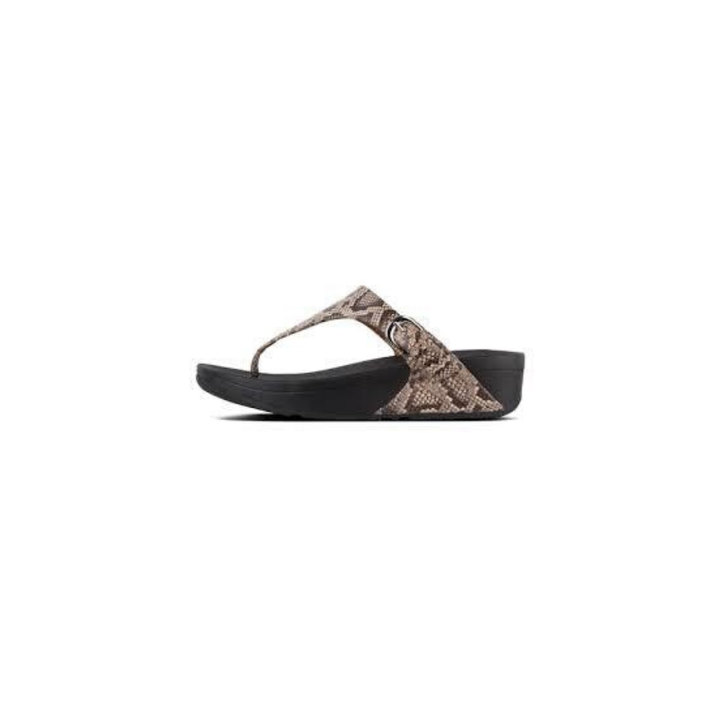 FitFlop Skinny Snake Print Taupe