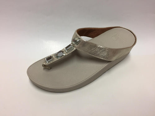Fitflop Pietra White Gold Toe Thong