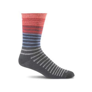 Sockwell Plantar Ease Crew Women's Black Stripe