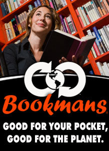 Bookmans: Good for your pocket, good for the planet.