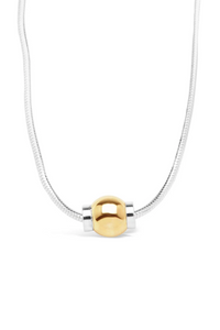 Cape Cod Beach Ball Necklace - Solid 14k Gold/ Solid Silver