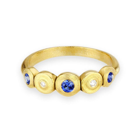 r210s alex sepkus five seed ring 18k yellow gold sapphire diamond