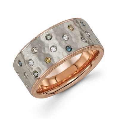 michaels jewelry provincetown cape cod michael's original design celestial ring grey gold rose gold color diamond fashion ring