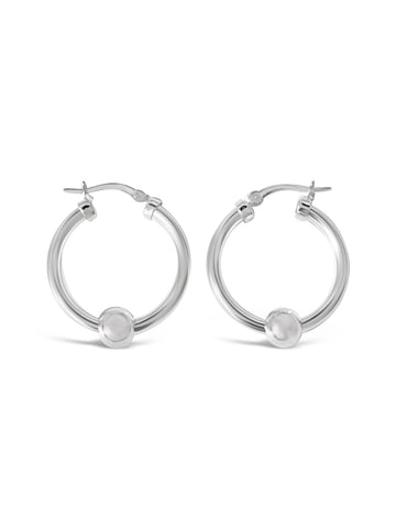 Cape cod earrings, cape cod hoop ball earrings, made on Cape cod