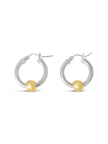Cape cod earrings silver with gold balls