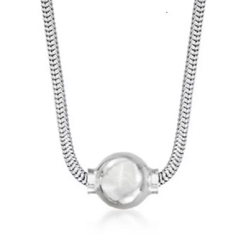 Cape Cod Beach Ball Necklace - Solid Silver