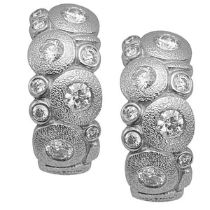 E-122 PD Alex sepkus earrings platinum diamonds