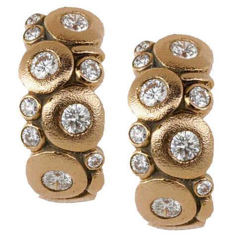 E-122 RD alex sepkus candy earrings rose gold diamonds