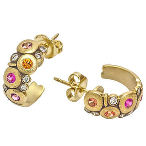 E-122S alex sepkus candy earrings sapphire mix 18k yellow gold