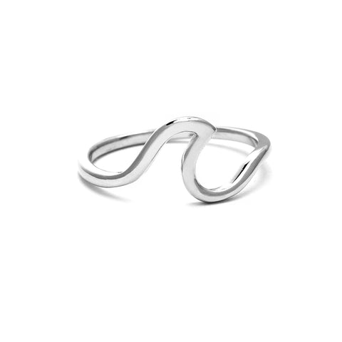Wave Ring, 925 Sterling Silver