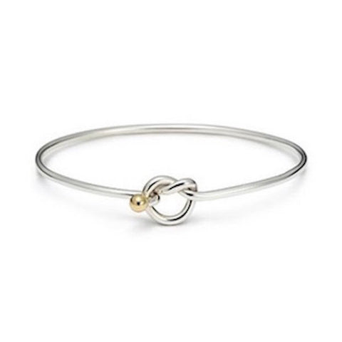 Cape Cod Love Knot Bracelet -Solid Silver/Rhodium Gold