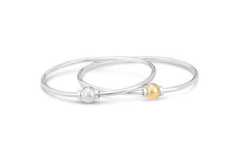 14k gold and silver cape cod bracelet set on sale