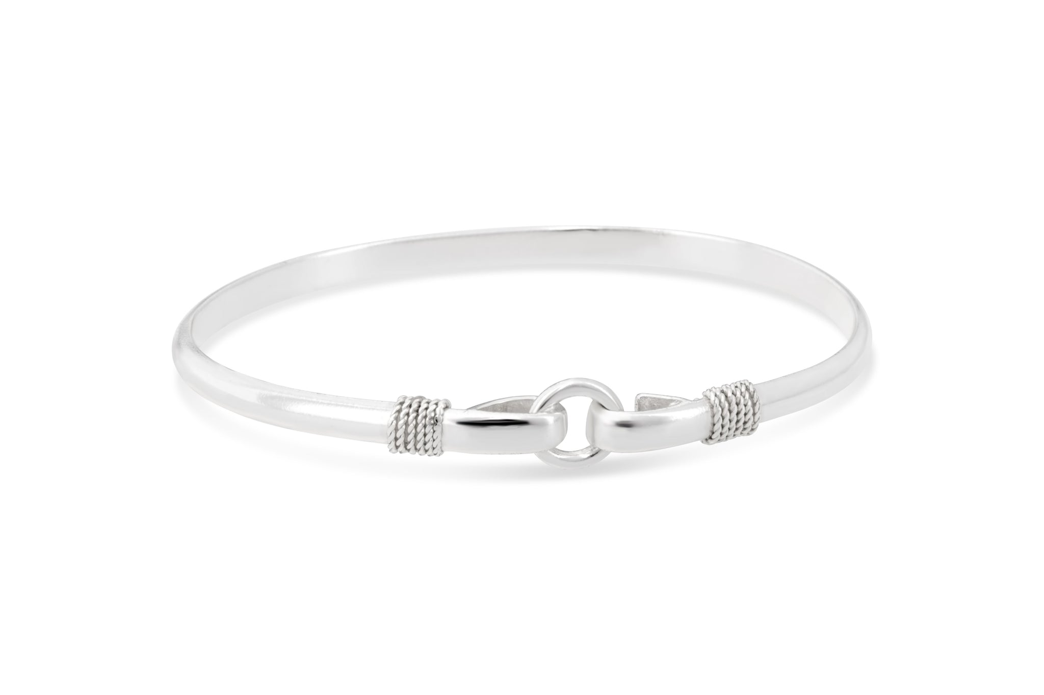 porthole silver bracelet, 925 sterling silver center circle bangle, made on cape cod silver nautical bracelet