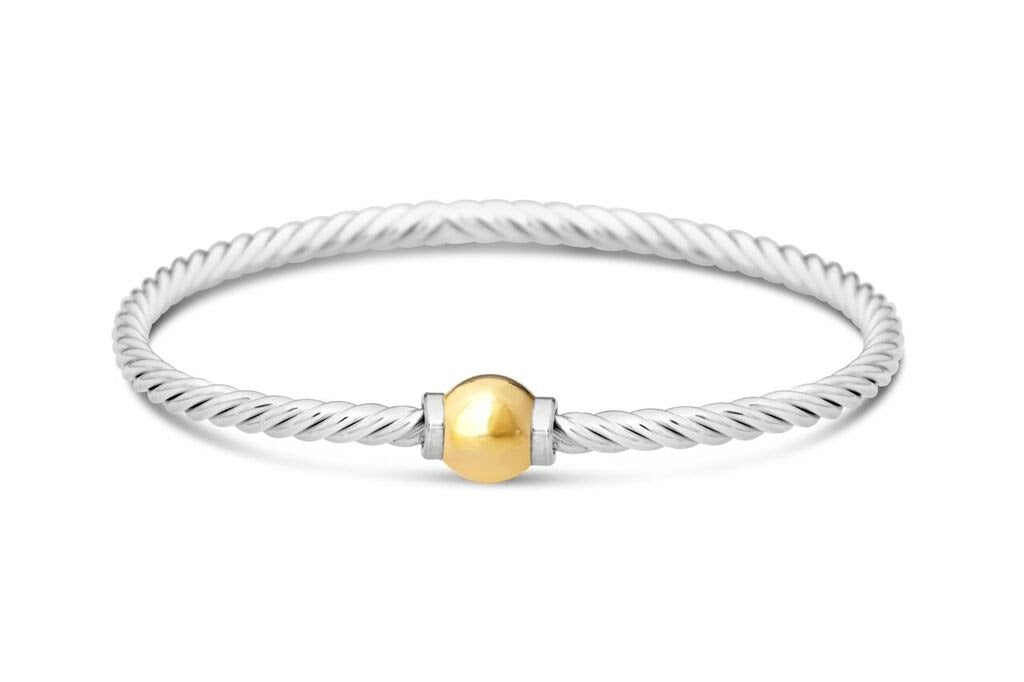 Cape Cod Beach Ball Twist Bracelet in 14k Gold