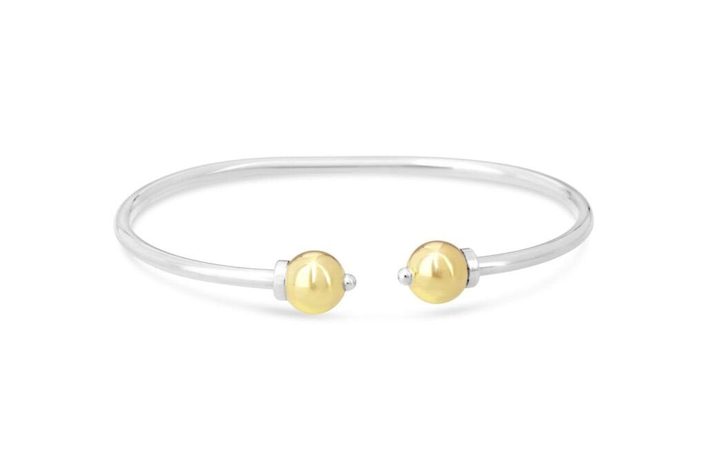 Cape Cod Beach Ball Cuff Bracelet in 14k Gold