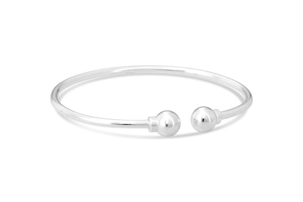 Cape Cod Beach Ball Cuff Bracelet in Silver