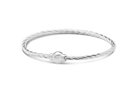 Cape Cod Beach Ball Twist Bracelet in Silver
