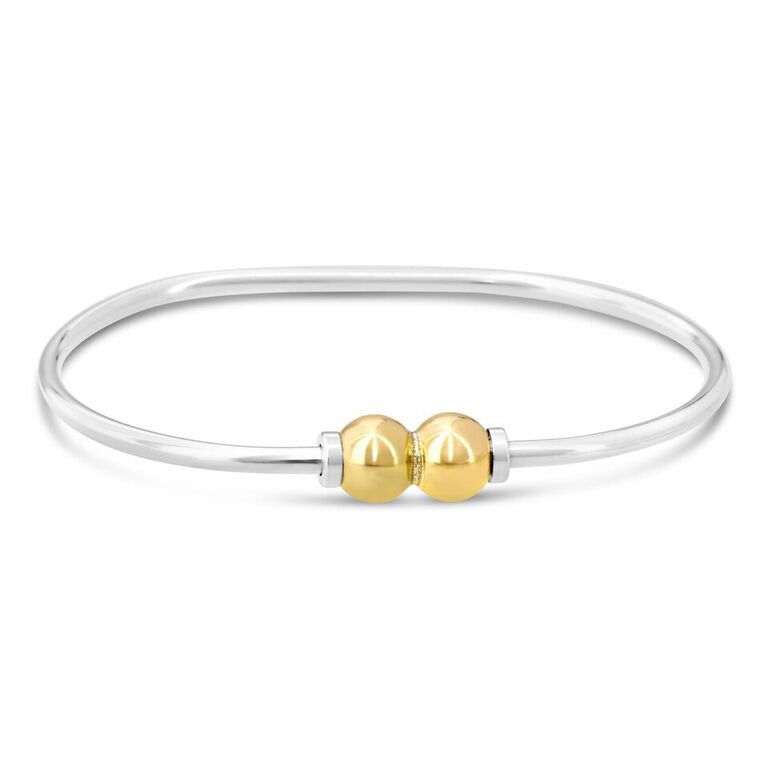 Cape Cod Beach Ball Bracelet with 2 Balls in 14k Gold