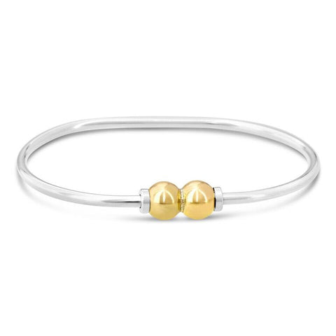 2 ball 14k gold cape cod beach ball bracelet made on Cape Cod by Michael's Custom Jewelers