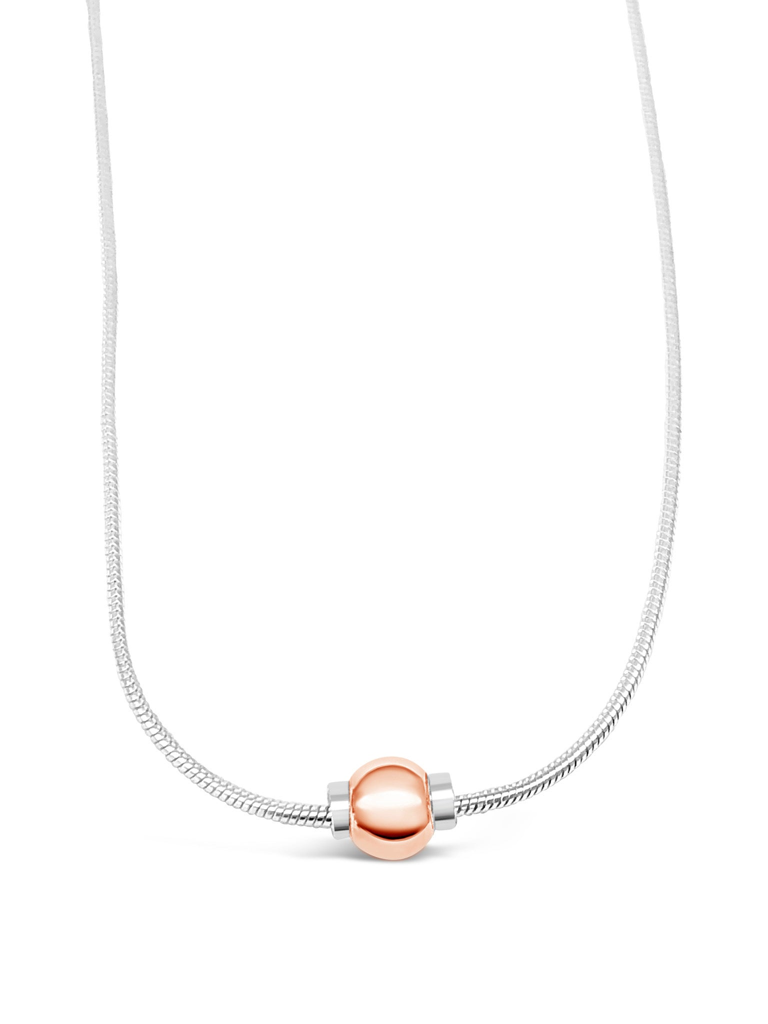 Cape Cod Beach Ball Necklace - 925 Silver/Rose Gold Filled