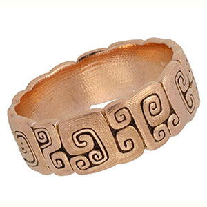 J Garden R-94 Alex Sepkus Band 18k rose gold handmade ring