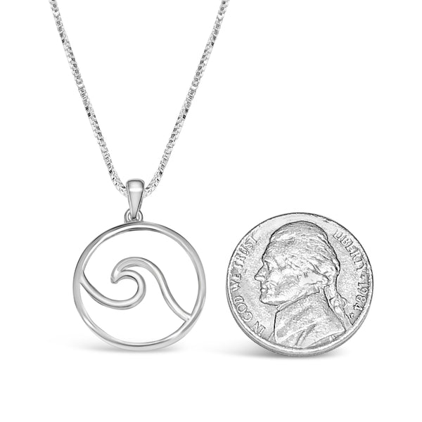 cape cod wave necklace sterling silver pendant wave
