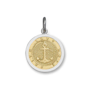 LOLA anchor gold center pendant, gold vermeil nautical pendant, 925 silver gold nautical anchor pendant Medium nantucket provincetown