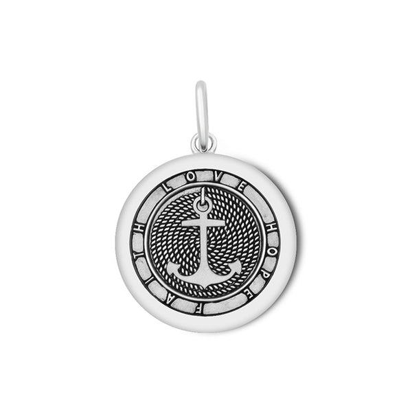 Lola Anchor Pendant, Oxidized Sterling Silver Pendant Necklace, Medium Nautical Anchor Pendant Nantucket Provincetown