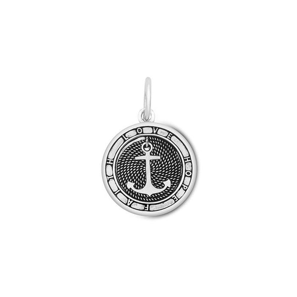 Lola Anchor Pendant, Oxidized Sterling Silver Pendant Necklace, Small Nautical Anchor Pendant Nantucket Provincetown