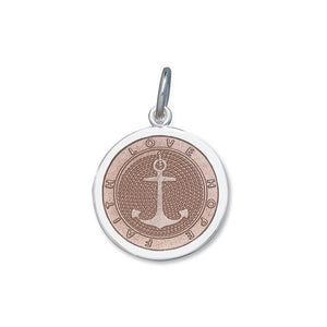 Lola Anchor Pink Enamel Pendant, Medium Nautical Anchor Nantucket Provincetown Cape Cod