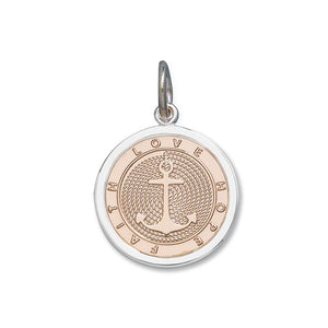 LOLA Anchor pendant rose gold vermeil, 925 sterling silver nautical anchor pendant, rose gold center anchor Medium pendant nantucket provincetown