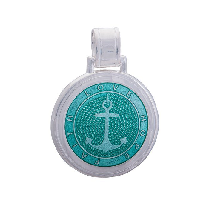 Lola anchor pendant seafoam Large color nautical pendant nantucket provincetown