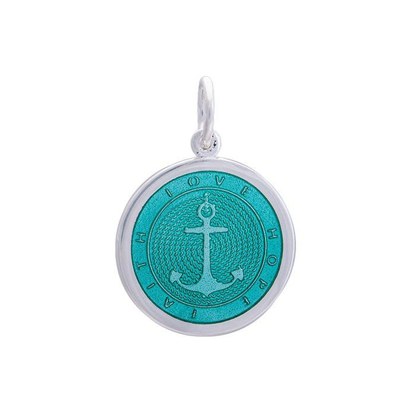 Lola anchor pendant seafoam Medium color nautical pendant nantucket provincetown