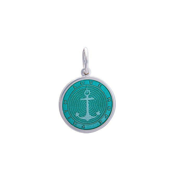 Lola anchor pendant seafoam Small color nautical pendant nantucket provincetown