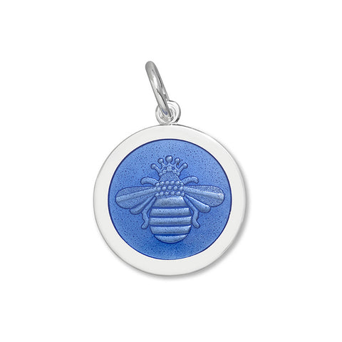 Lola Bee pendant periwinkle enamel center medium