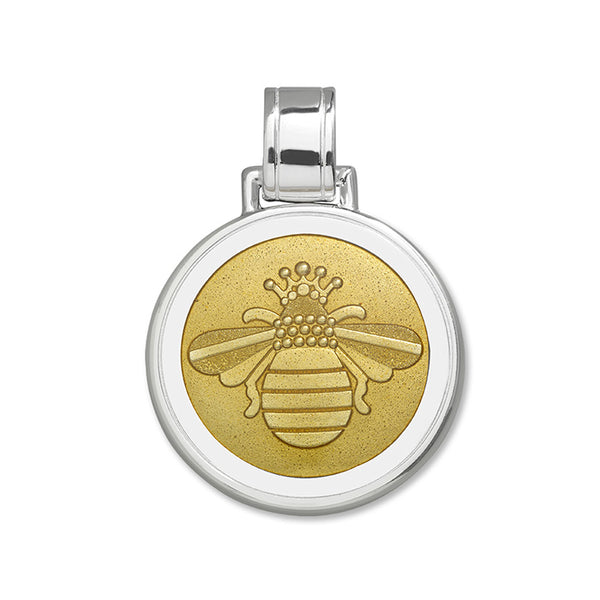 Lola Bee pendant gold enamel center large