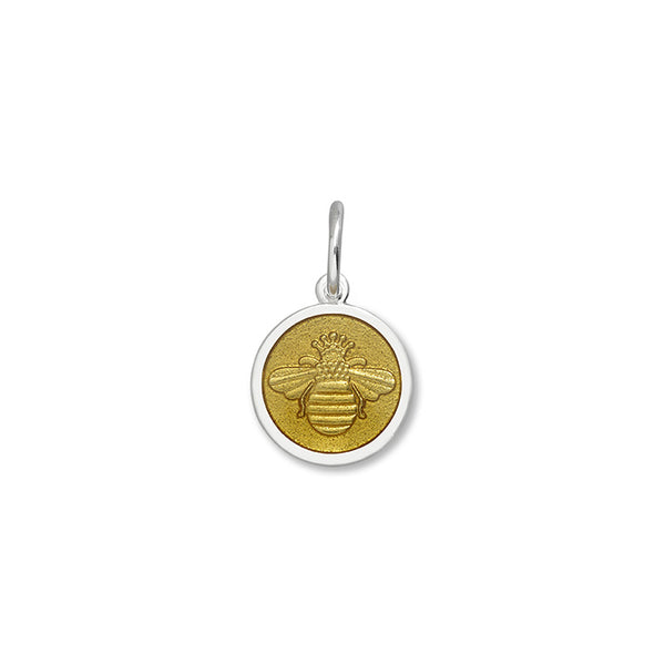 Lola Bee pendant gold enamel center mini