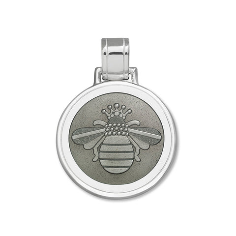 Lola bee pendant pewter large
