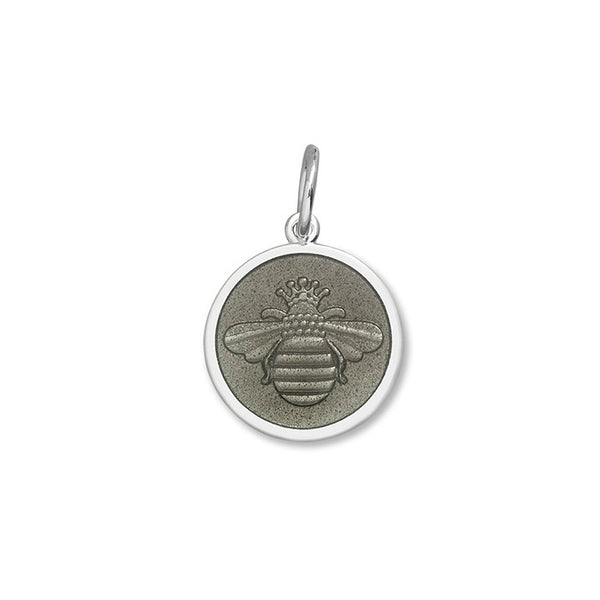 Lola bee pendant pewter small