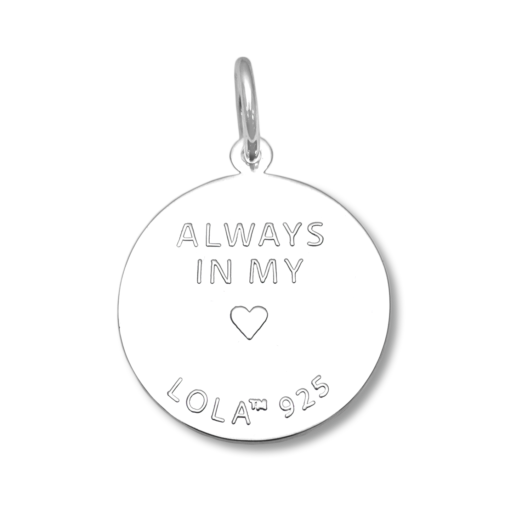 Always in Your Heart Lola Cape Cod Map Pendant White Enamel ,cape cod map 925 sterling silver pendant Backside nantucket provincetown